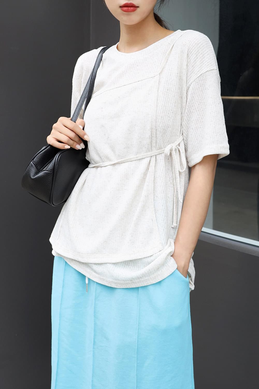 Linen wrap T-Shirt