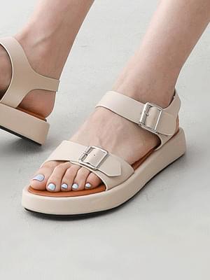 Double Buckle Strap Sandals 9137