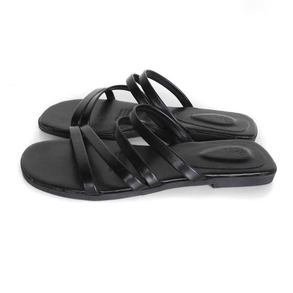 diagonal slippers