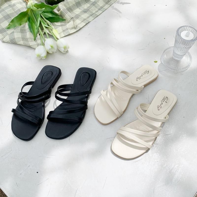 diagonal slippers 涼鞋