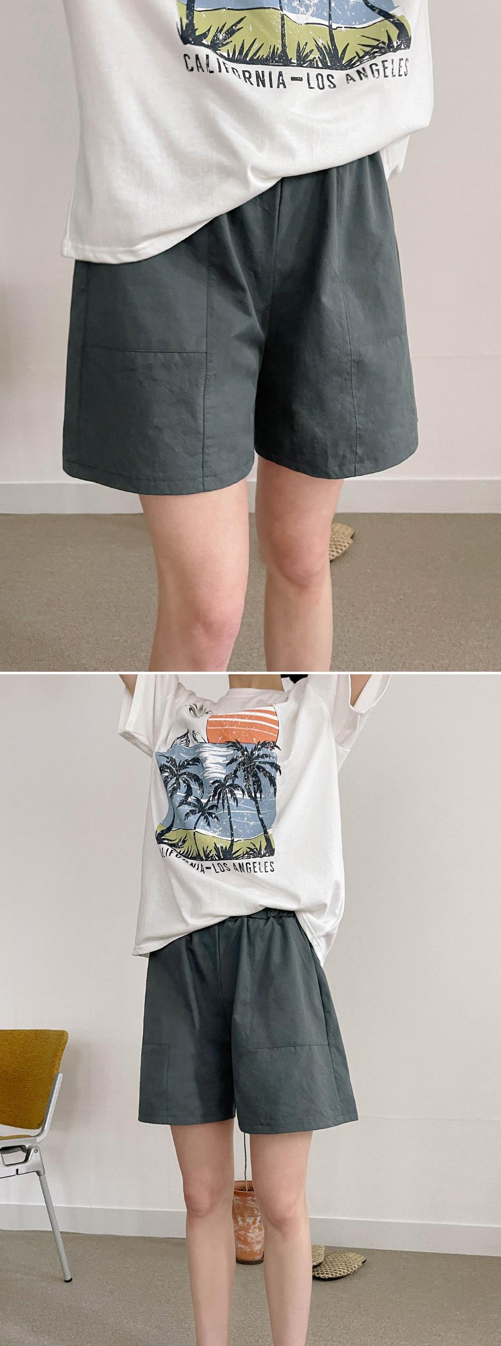 elb wide banding short pants