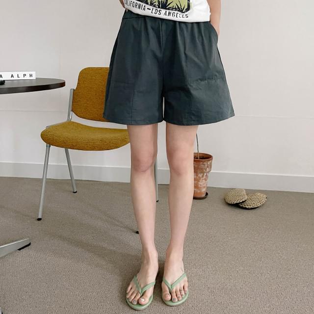 elb wide banding short pants 短褲