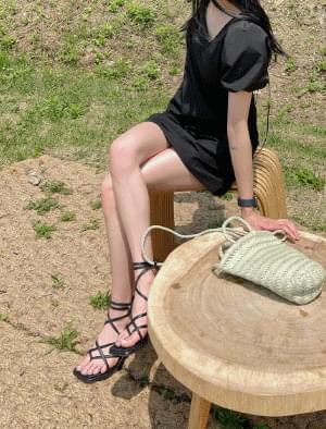 honey strap sandal heels