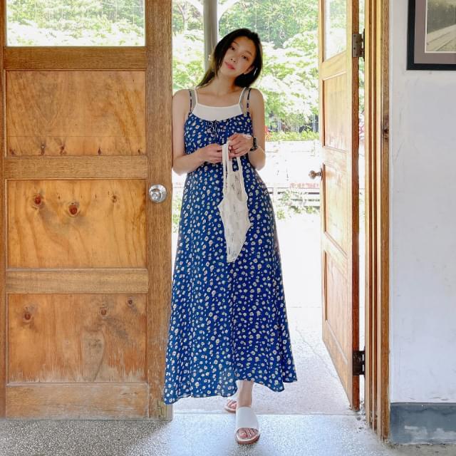 May Flower Sleeveless Dress
