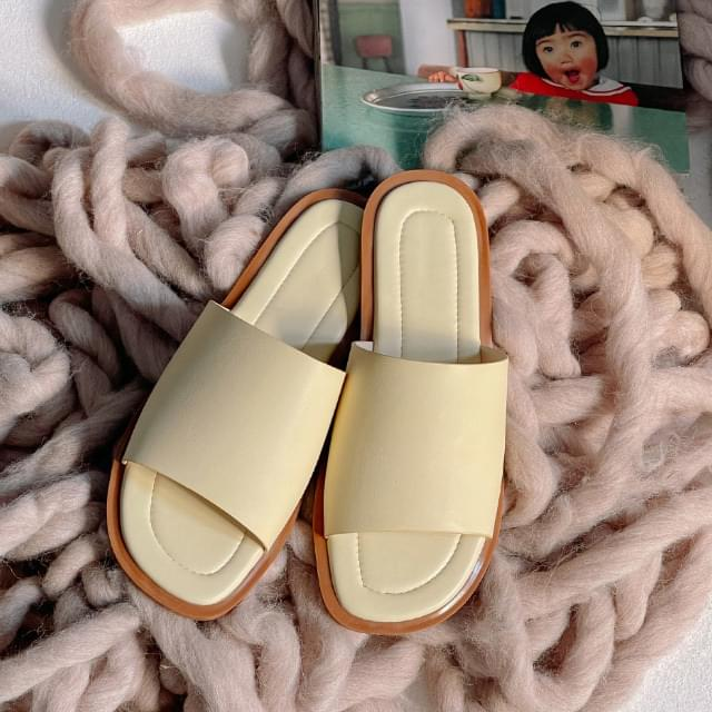 Byron color matching slippers 涼鞋