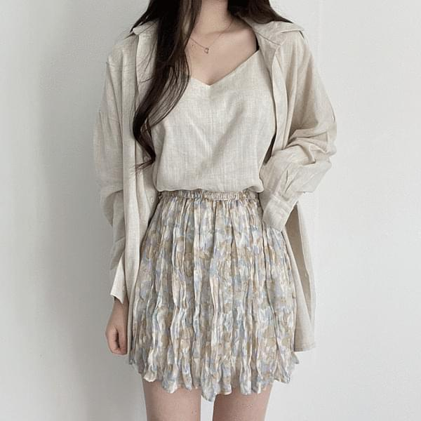 Oil Painting Wrinkle Skirt