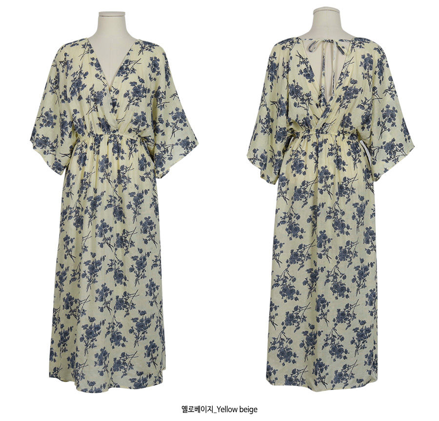 Lily Flower Maxi Long Dress