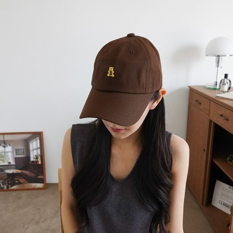 Bear B Embroidery Ball Cap Hat 6colors