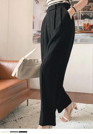 Line Good Pintuck Linen Slacks