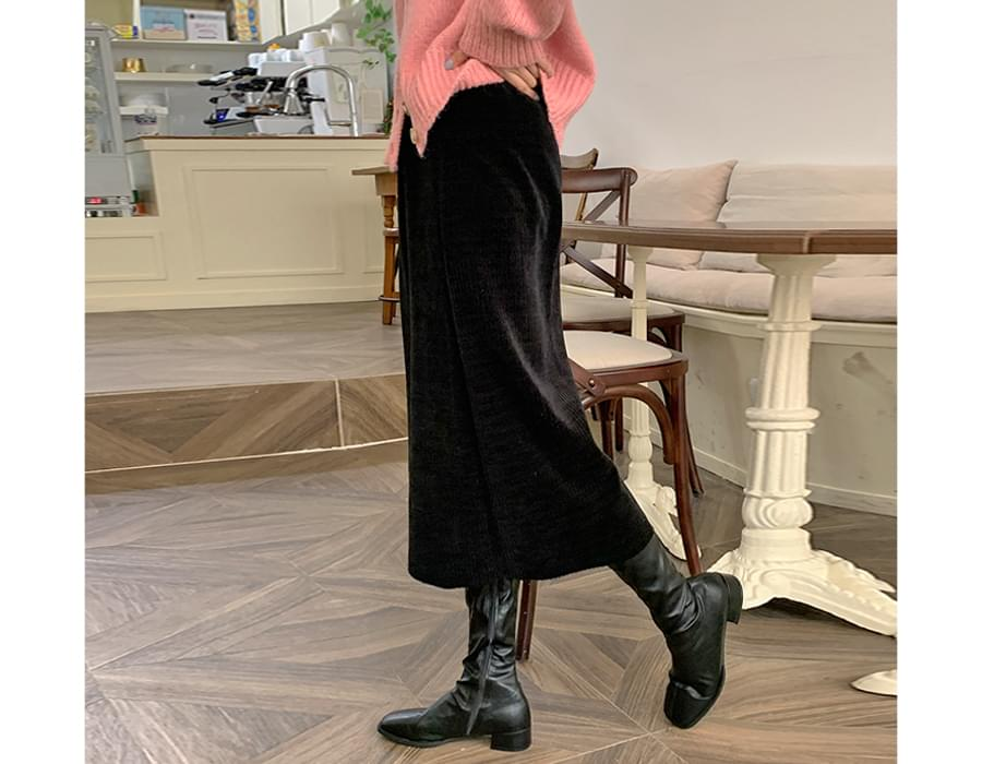 Smooth Ribbed banding skirt