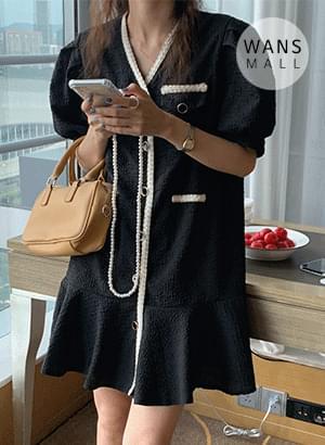op4856 dewse seersucker mini Dress