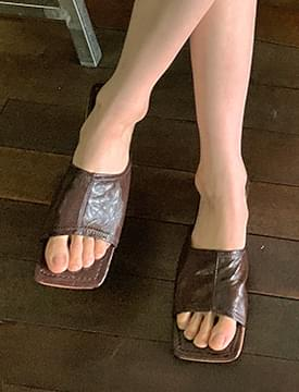 sand square mules slippers