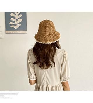 Lace Straw Hat #86579