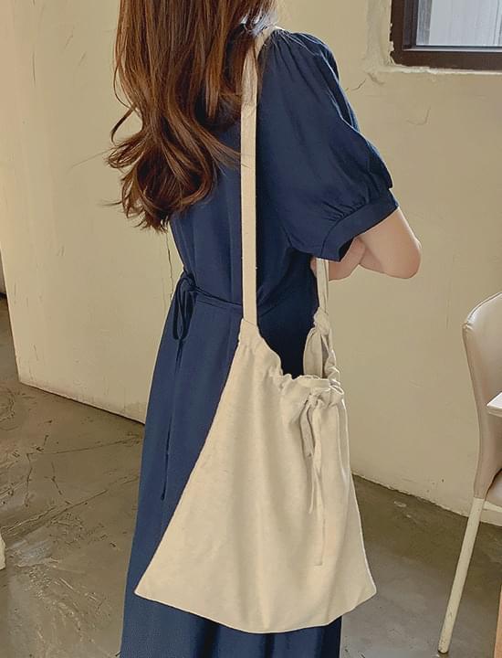 British linen strap eco bag