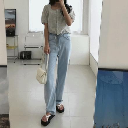 Cool summer Light Blue wide pants