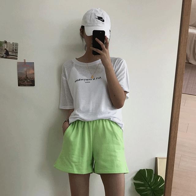 plain training shorts 短褲