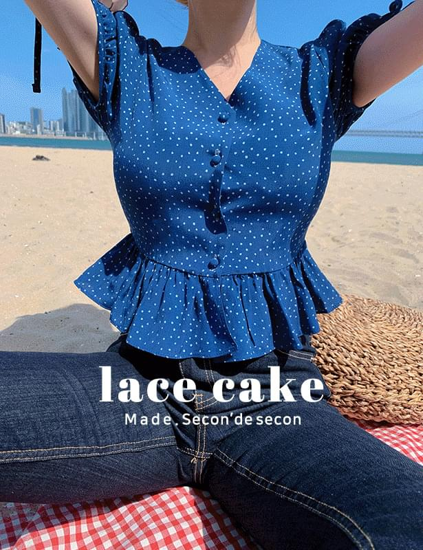 *Same day delivery* Dot cake blouse