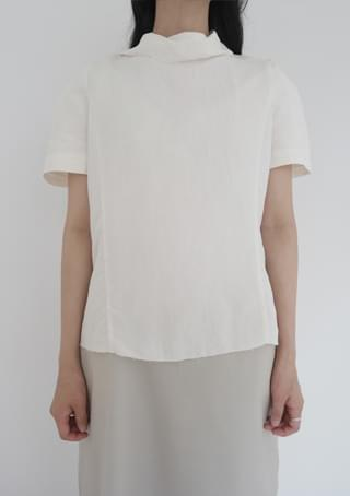 fade linen half blouse