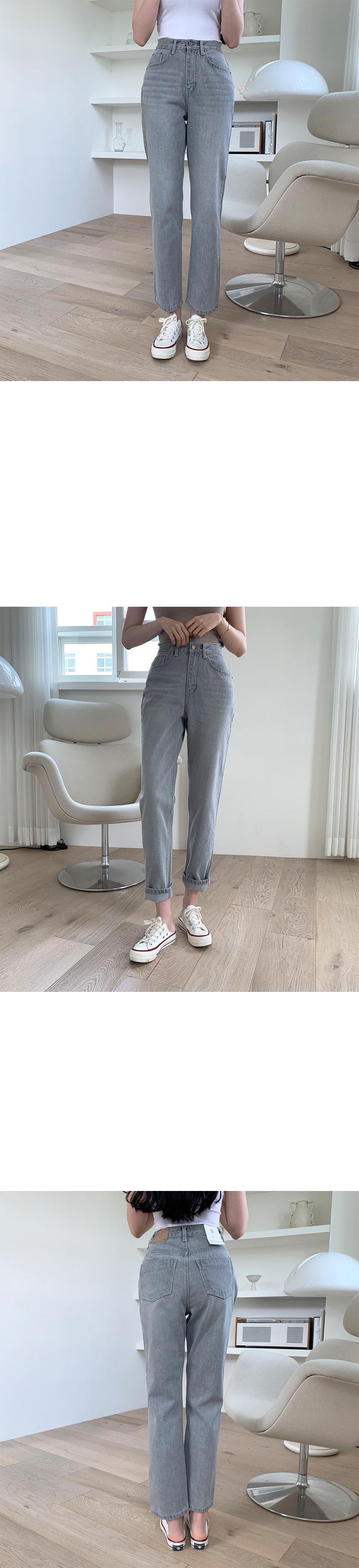 Renewal Gracie Faded Denim Straight Pants
