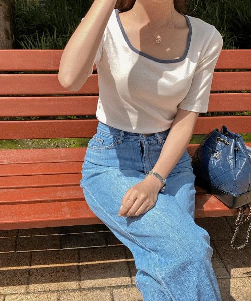 Square color T-shirt - 4color