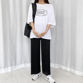 pleated wide banding trousers