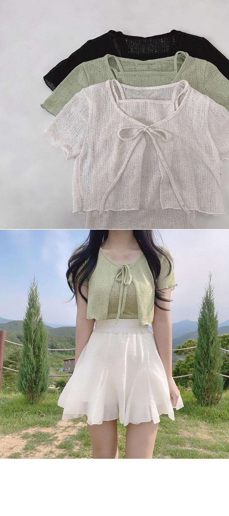 ridged lace cardigan
