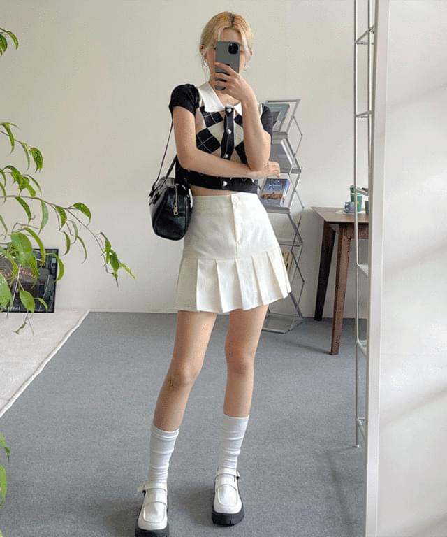 Moriten Pleated Mini Skirt Pants