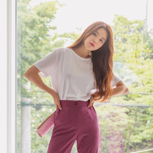 Plain Standard Cotton Short Sleeve Tee