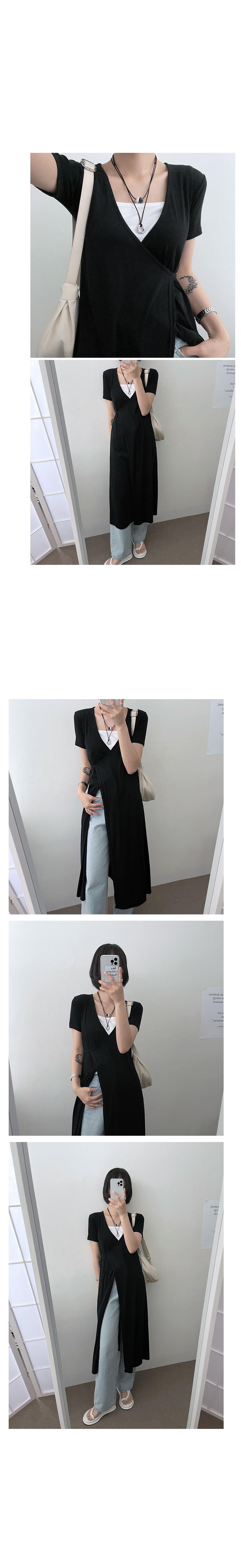 Wrap cardigan short sleeve Dress