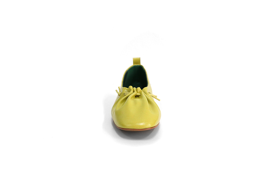 Wiz pleated flat shoes