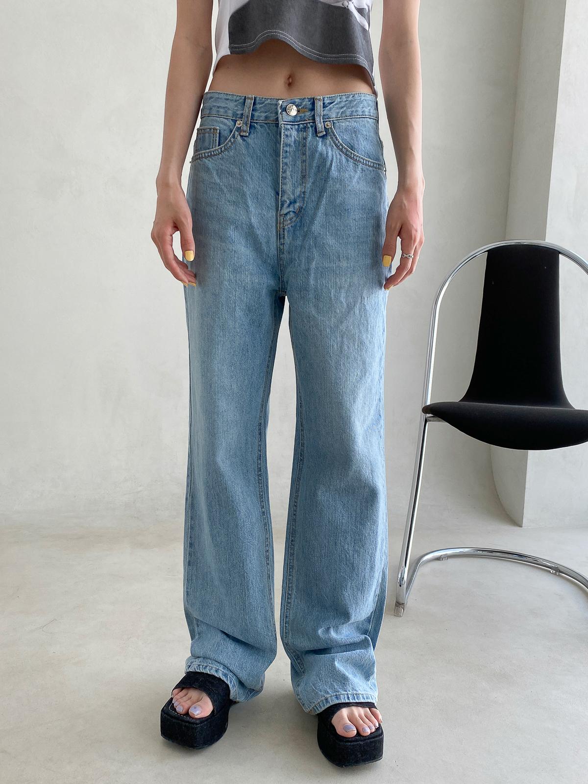 no.7039 ribs Light Blue pants