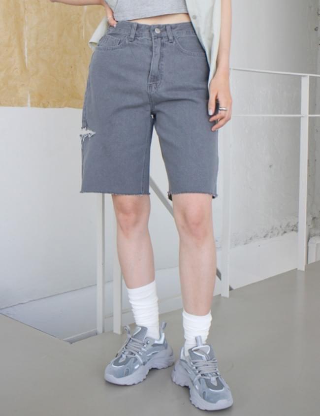 no.379 side slit shorts
