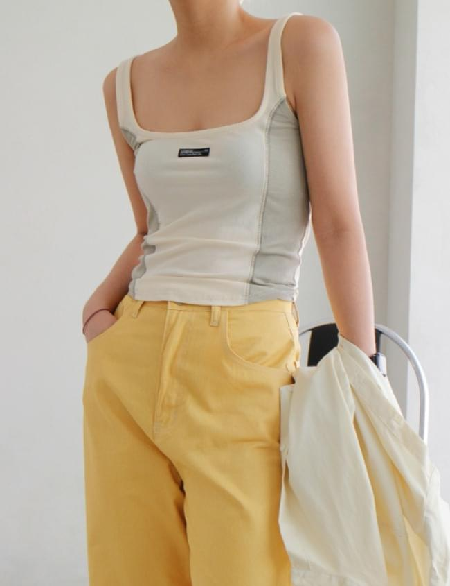 color matching patch sleeveless