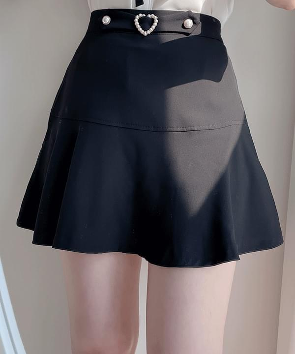 Lux Heart Pearl Skirt Pants 3color