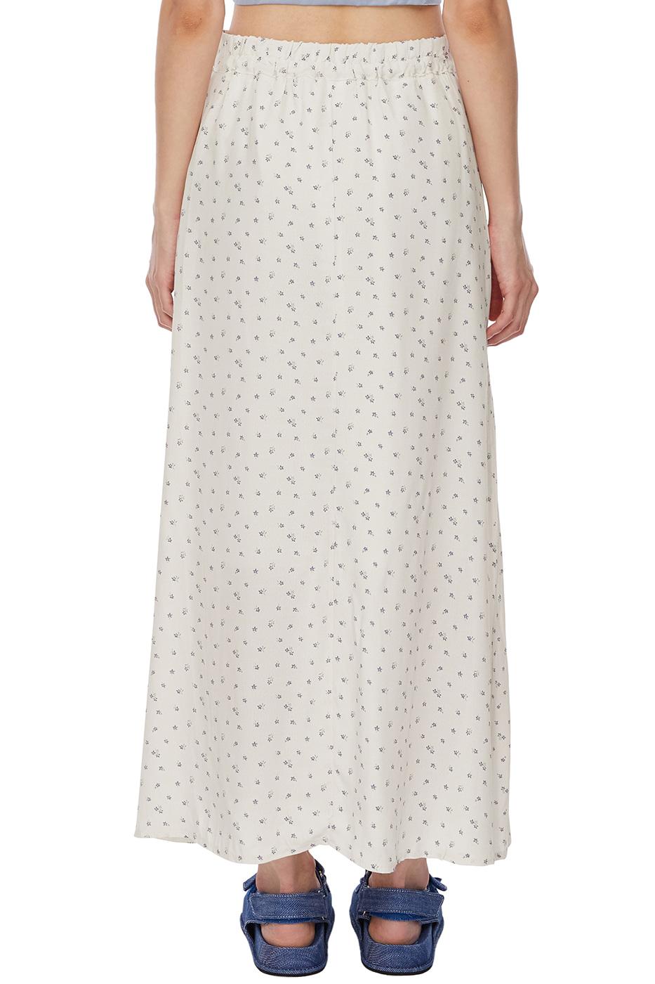 berry floral long skirt