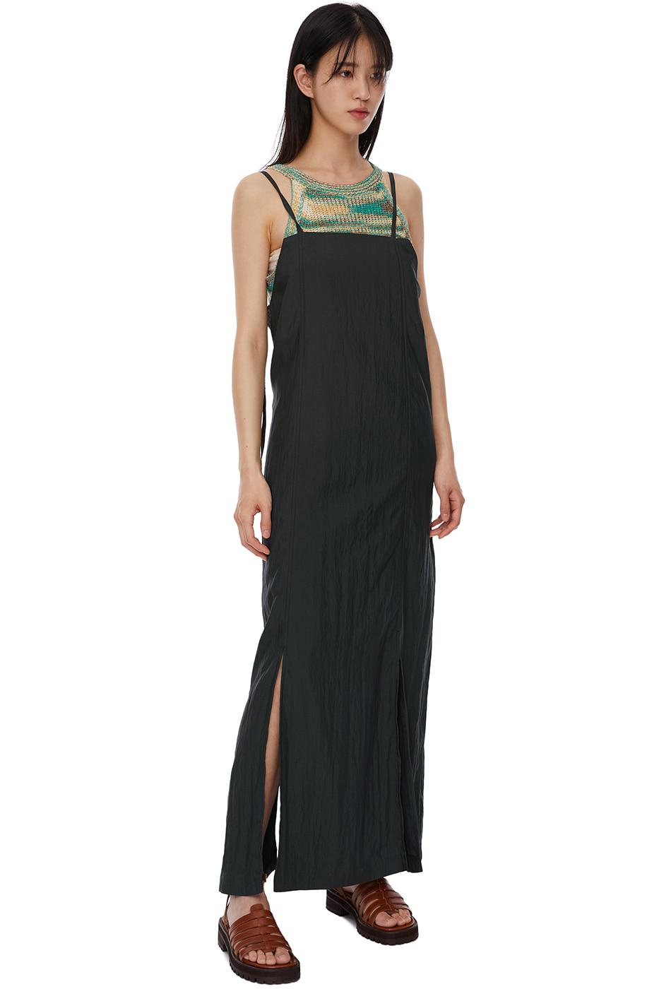 Nylon Ring Strap Long Dress