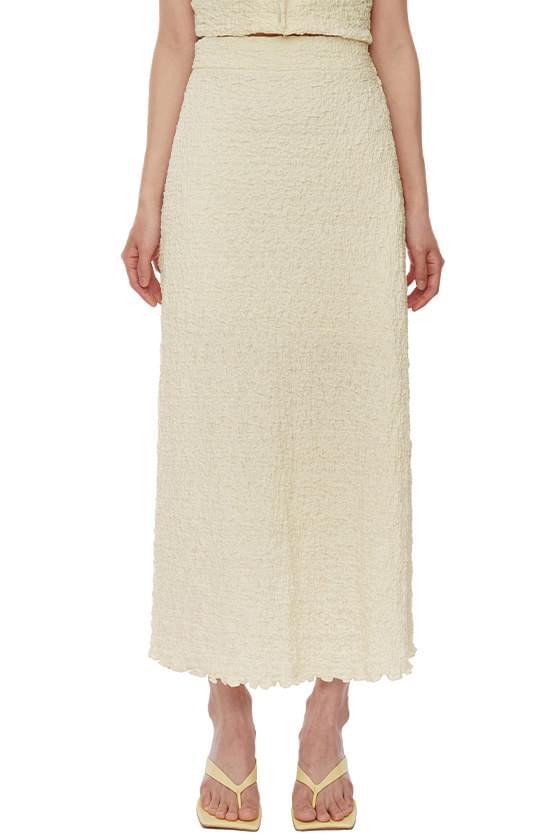 Pale Wrinkle Long Skirt