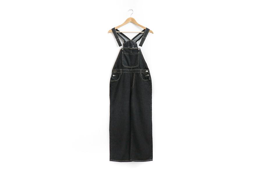 Black Denim overalls