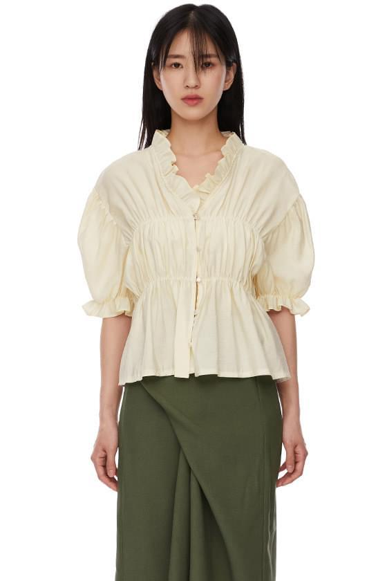 Alice shirring blouse