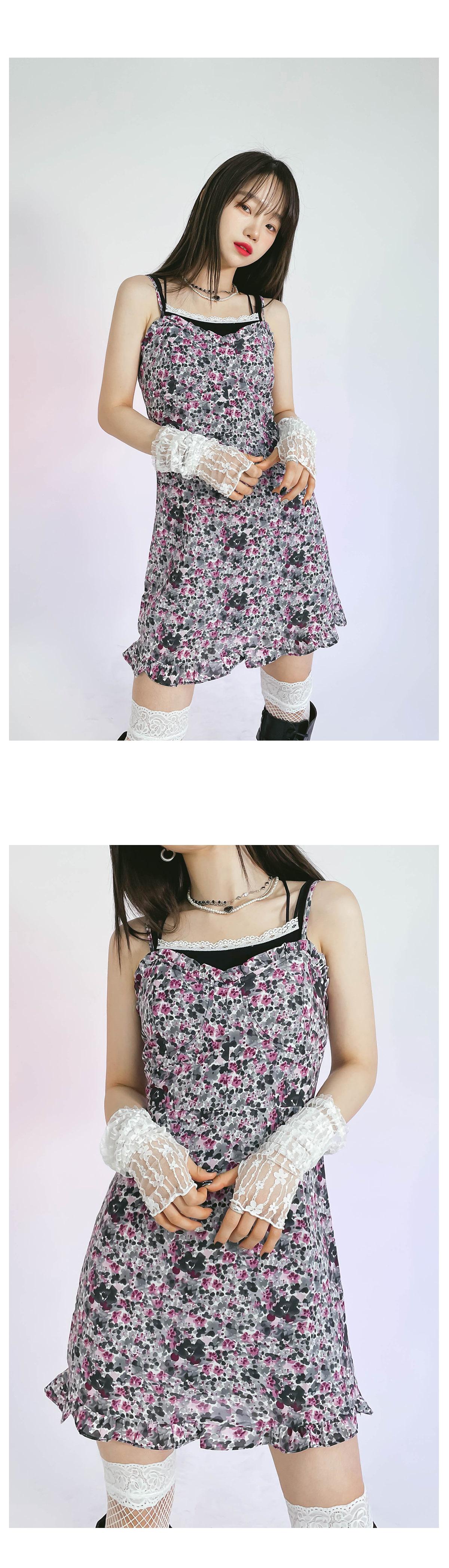 flower wets mini Dress