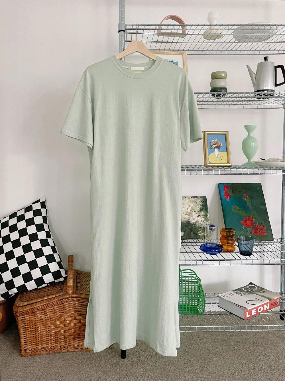 Loose-fit Slit Long Dress