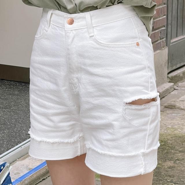 Bertie Destroyed Roll-Up Short Pants 短褲