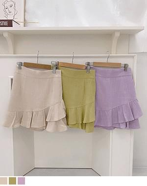 seat unbalance lace skirt