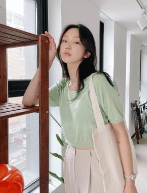 Rita Linen Short Sleeve Knitwear