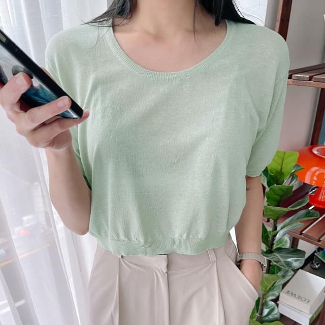 Rita Linen Short Sleeve Knitwear 針織衫