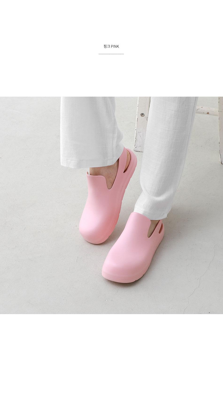 Whole-heeled puddle slingback sandals 10968