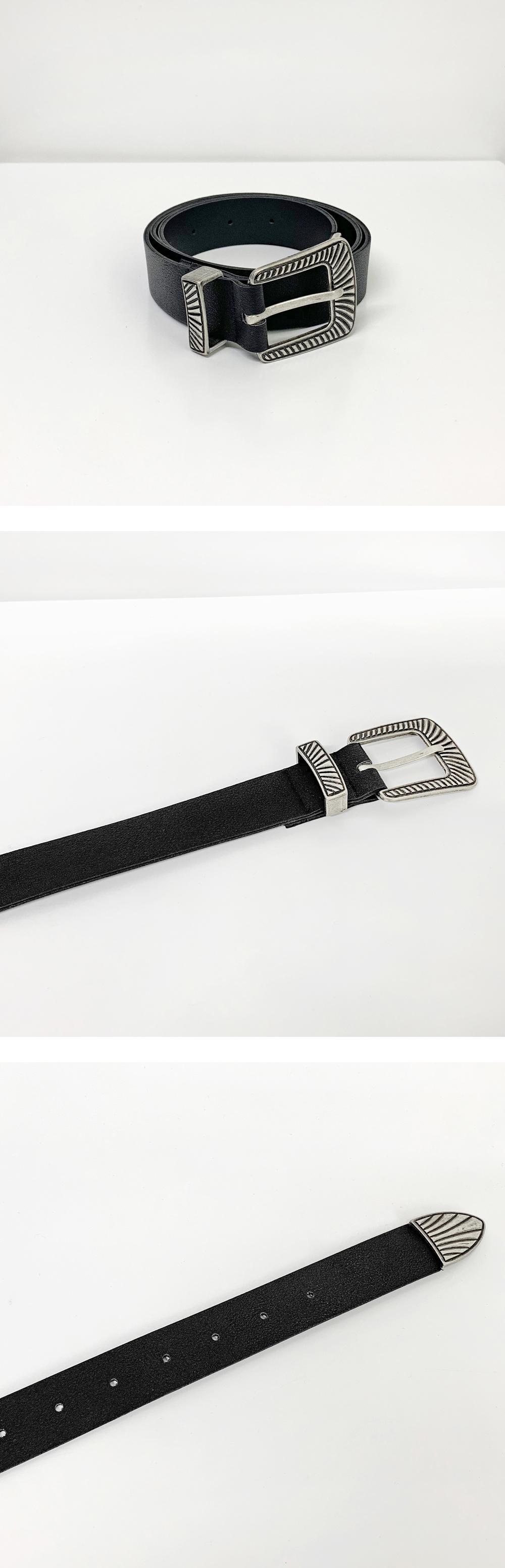 Alto ethnic leather belt