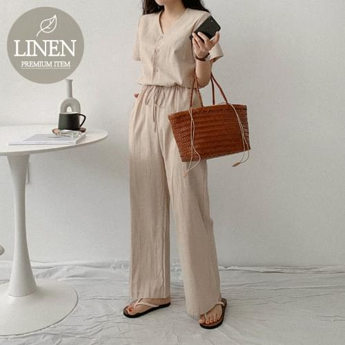 Recommended stove linen jumpsuit for short girls