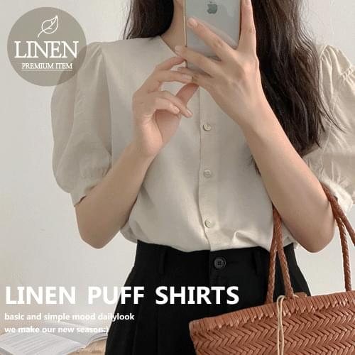 Bael Linen Puff Shirt