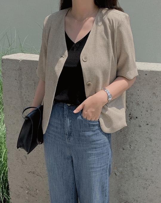 Choa V-Neck Sleeveless Knitwear - 5 color